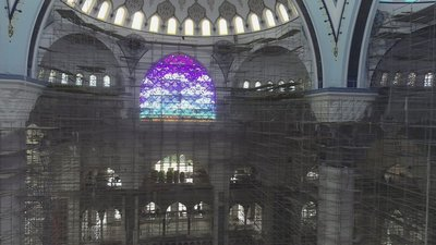 Çamlıca Camii'nin içi ilk kez görüntülendi