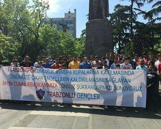 Trabzon taraftarından Erdoğan'a teşekkür