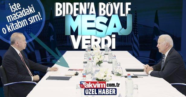 Erdoğan-Biden görüşmesinde masada dikkat çeken kitap