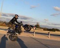 Motosikletle terör estiren magandanın feci sonu!