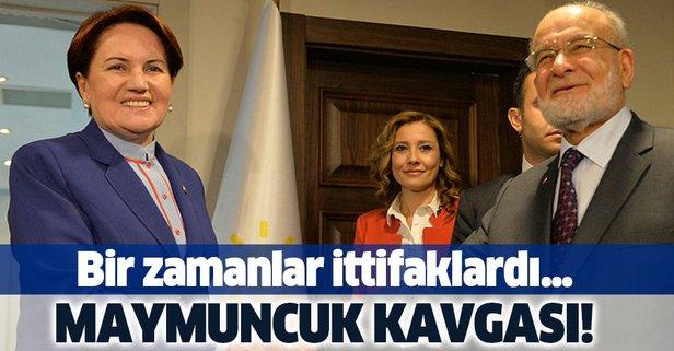 Meral Akşener ve Temel Karamollaoğlu arasında maymuncuk kavgası!