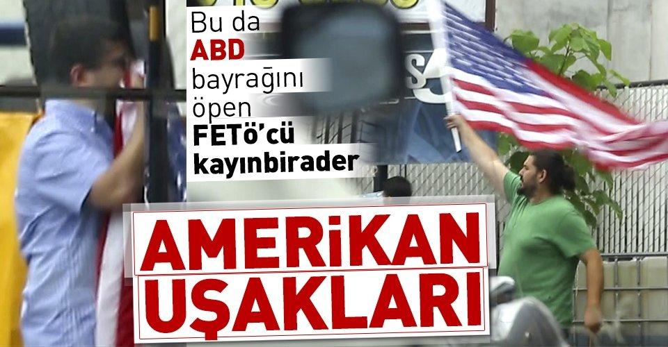 Adil Öksüzün kayınbiraderi ABD bayrağını öperken görüntülendi