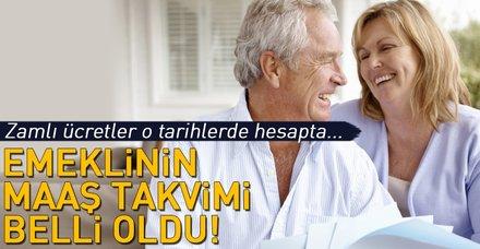 Emeklinin zamlı maaş takvimi belli