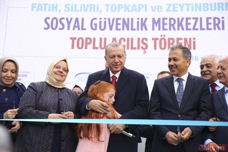 Başkan Erdoğan'ın katıldığı toplu açılış töreninde dikkat çeken kare!