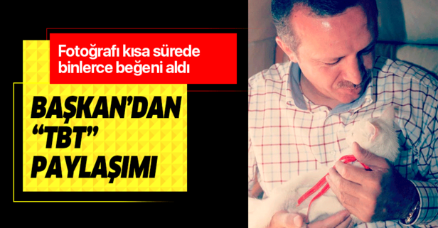 Başkan Erdoğan'dan 'tbt' etiketli paylaşım!