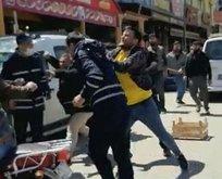 Gaziantep'te seyyar satıcı- zabıta kavgası