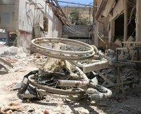 PKK/YPG tarafından vurulan hastaneden görüntüler