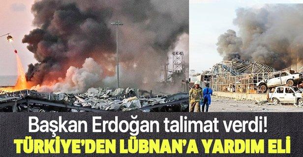 Türkiye'den Lübnan'a yardım!