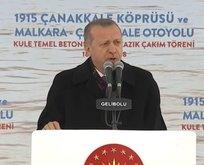 Cumhurbaşkanı Erdoğandan Çanakkale müjdesi