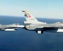 F-16'lar havalandı! Akdeniz'de sıcak dakikalar