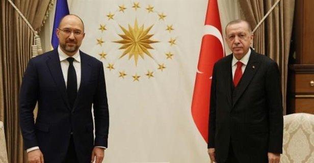 Başkan Erdoğan, Shmyhal'ı kabul etti