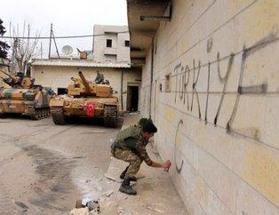 Mehmetçik Afrin'i aldı şanlı bayrağımızı astı