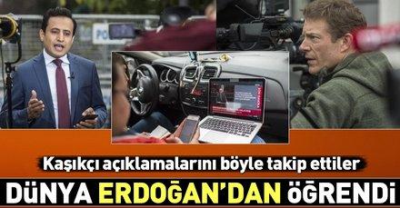 Tüm dünyanın gözü Erdoğan'ın üzerindeydi! Bakın nasıl izlediler