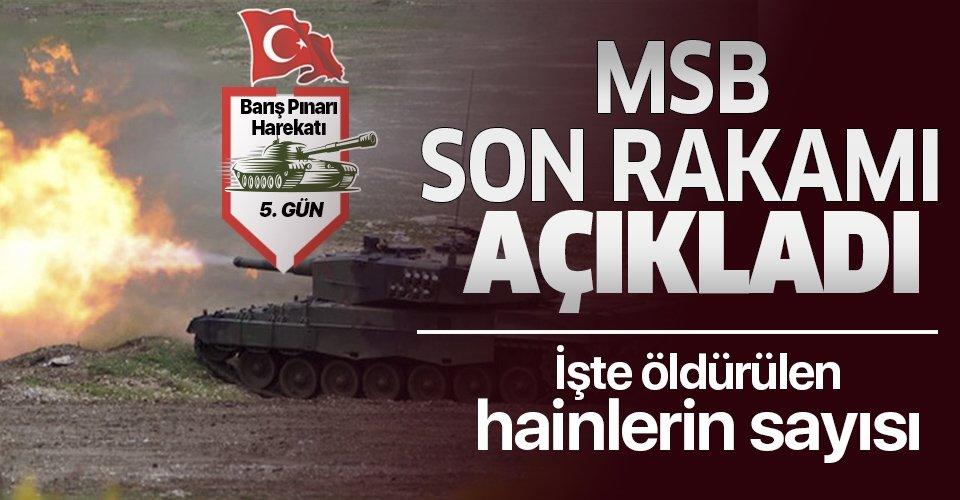 Son dakika: Bakanlık açıkladı! Barış Pınarı Harekatı'nda etkisiz hale getirilen PKK/PYD-YPG'li terörist sayısı 525 oldu