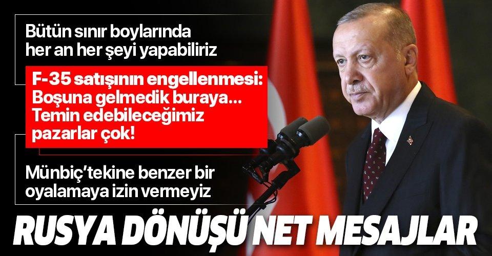 Son dakika: Başkan Erdoğan gazetecilerin sorularını yanıtladı! Erdoğan'dan İdlib'deki saldırılara ilişkin açıklama