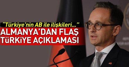 Almanya'dan Türkiye'nin AB üyeliği hakkında açıklama!