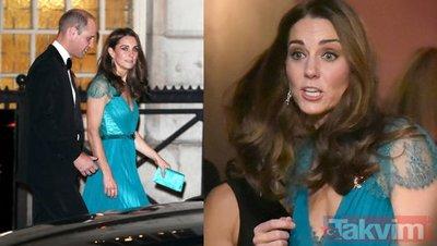 Kate Middleton'dan turkuaz elbise skandalı! Herkesin diline düştü