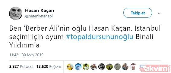 Topal Dursun´un oğlu Binali sosyal medyada gündem oldu!