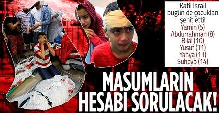 Terörist İsrail 10 Filistinliyi daha şehit etti