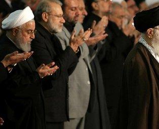 Hamaney'in kıldırdığı Cuma namazında Ruhani camiyi terk etti