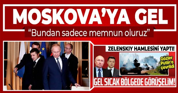 Putin'den Zelenskiy'e yanıt