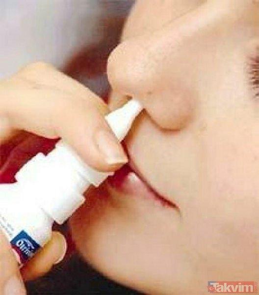 Uzmanlar uyardı! Burun spreyi bağımlılık yapabilir