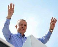 İstanbulda Recep Tayyip Erdoğan coşkusu! Bir günde 7 miting