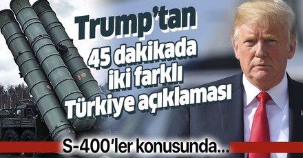 Son dakika: Trump'tan Türkiye mesajı! S-400 konusunda Türkiye'ye yaptırım arayışında değilim