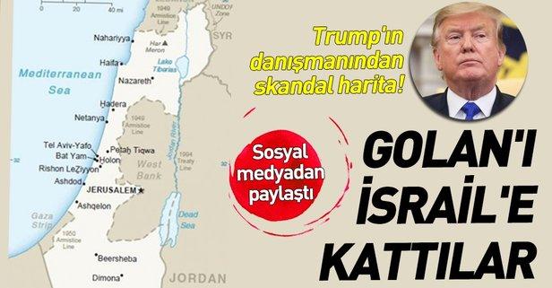 ABD'den skandal harita! Golan'ı İsrail'e kattılar