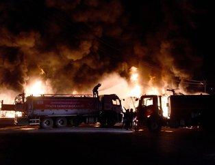 Tarsus Sebze Hali'nde büyük yangın