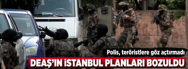 İstanbul polisi, DEAŞ'a geçit vermedi