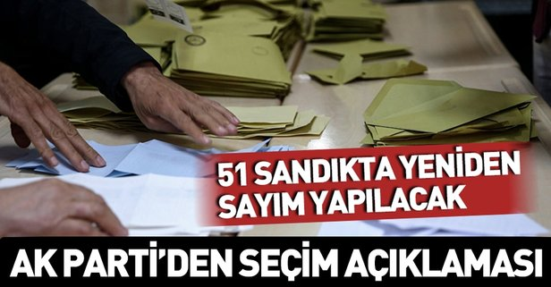 YSK'dan İstanbul kararı! 51 sandık tekrar sayılacak