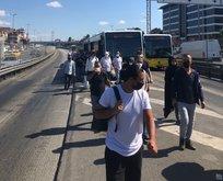 Metrobüs bozuldu vatandaş yine yürümek zorunda kaldı