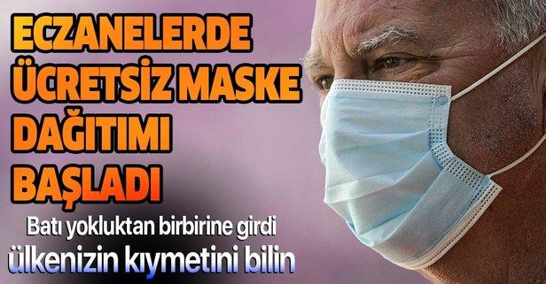 Ücretsiz maske dağıtımı başladı