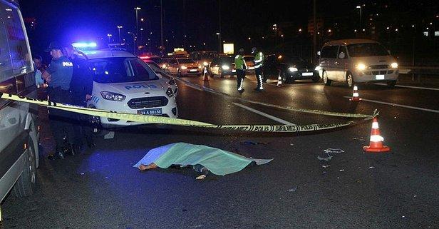 TEM'de otomobilin çarptığı kadın öldü