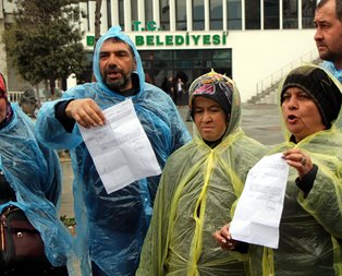 CHP'ye geçen belediyeden kovulan işçiler isyan etti