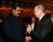 Madurodan Cumhurbaşkanı Erdoğana tebrik telefonu