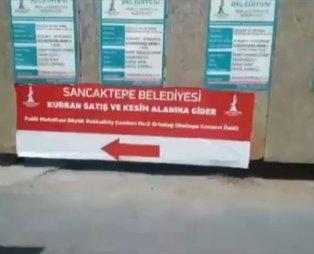 CHP'li İBB'den hazımsızlık! Sancaktepe'de kurban kesim alanı pankartlarını topladı