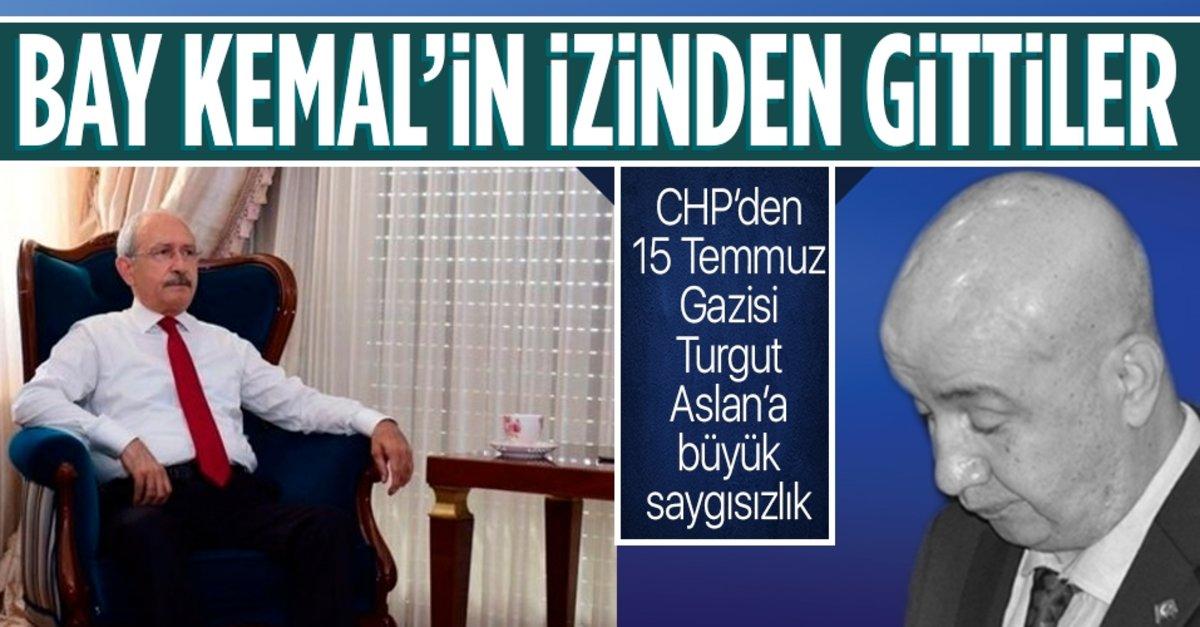 CHP'den 15 Temmuz Gazisi Turgut Aslan'a büyük saygısızlık - Takvim
