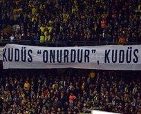 Fenerbahçe tribününden anlamlı pankart