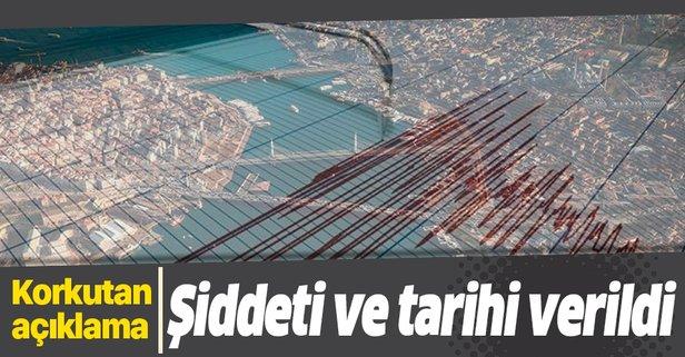Büyük depremin tarihi ve şiddeti...