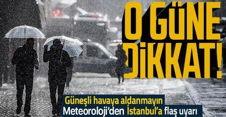 HAVA DURUMU   İstanbul için yağış uyarısı! O güne dikkat! Sıcaklıklar 2 derece düşecek
