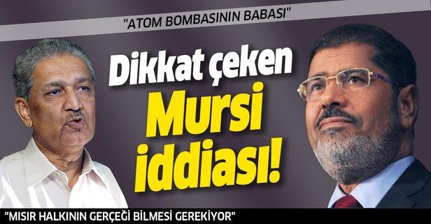 Nükleer fizikçiden dikkat çeken Mursi iddiası