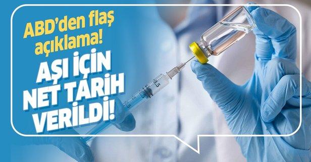 ABD koronavirüs aşısı için tarih verdi!