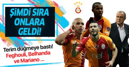 Fatih Terim düğmeye bastı! Feghouli, Belhanda ve Mariano topun ağzında