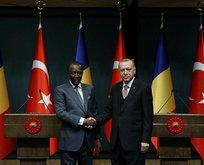 Başkan Erdoğan ve Çad Cumhurbaşkanı Idriss Deby'den ortak açıklama