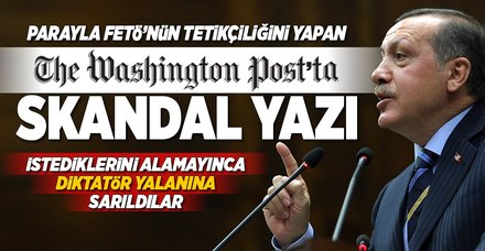 The Washington Post'tan küstah yorum