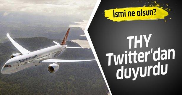 THY ilk rüya uçağın ismi için anket başlattı