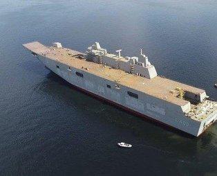 Türkiye'nin savaş gemisi TCG Anadolu, Yunan basınında gündem oldu!