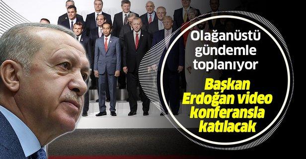 Başkan Erdoğan G20 zirvesine katılacak